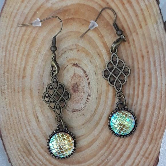 Fairy Tale Jewelry Jewelry - Caribbean Mermaid - dangle earrings